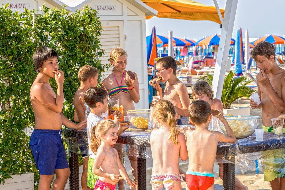 Nutella party in spiaggia bambini e ragazzi
